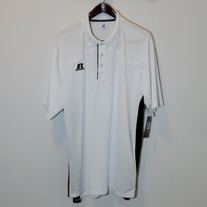 Russell Athletic Polo Shirt White and Black